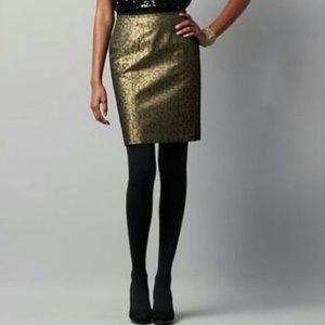 LOFT NWT gold geometric skirt